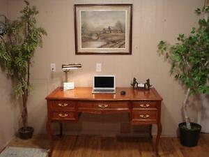 Beautiful Bow Front Writing Desk