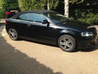 Audi A3 Cabrolet Sport in Metallic Black