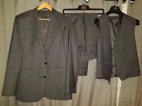 Lanificio Cerruti 3 piece Suit - 40R Jacket, 34 S Trousers Charcoal