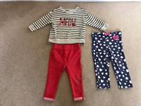 Girls Next sweatshirt/ jumper & Zara & Disney bundle age 9 to 12 months