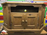 TV corner cabinet - pine