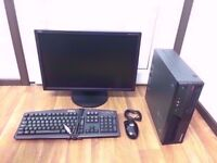Lenovo Gaming, Media Computer PC with 22 inch Monitor (Quad Core, 8GB RAM, 1TB, GT 710 Graphics)