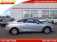 2012 Honda Civic Cpe LX + 100K WARRRANTY