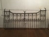 Pair of Decorative Wrought Iron Gates