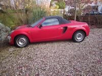 mr2 roadster red vvti