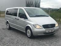MERCEDES-BENZ VITO EXTRA LONG 111 CDI 9 SEATER 6 SPEED MANUAL DIESEL 2.1 £3500 IMMACULATE CONDITION
