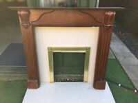 Off White Marble Fire place ( Fire not included)