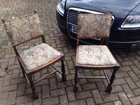 2 Chairs - Mock tudor - oak - 50's