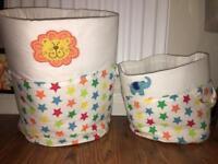 Kids Circus Animal Storage Basket Bags