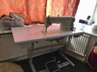 Brother Mark 3 heavy duty lock/straight stitch industrial sewing machine excl cond nd working NO OFR
