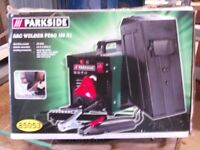 parkside arc welder. 40-80a. 1.6-2.5mm rods. only used twice. good condition .rods not included.