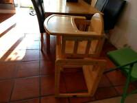 Multi function high chair, toddler chair, kids desk