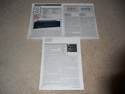 AudioSource EQ-One Equalizer Review, 3 pg, 1983, Full Test, Specs
