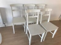 White Dining Chairs (5 number)