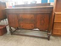 Large vintage carved sideboard
