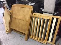 Solid oak cot