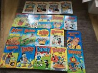 Dandy and Beano Annuals 1970s. 1980s/90s. 0ver 200 comics from 1988/89/90. Annuals in VGC