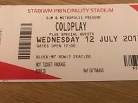 2 x Coldplay VIP Hot Ticket - Cardiff 12th July 2017 - £500