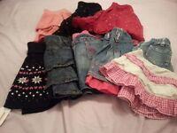 BARGAIN!! Bundle of girls skirts. 8 in total. 3-7 years.