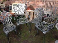 4 Cast Iron Garden Chairs