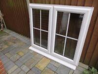 Georgian Style White Double Glazed Window 1190 x 1050