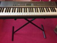 Casio keyboard and stand.