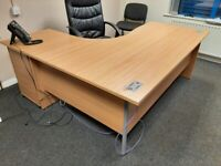 3 Office Desks Available | 2 Corner, 1 Rectangle | Can be sold individually or as a lot