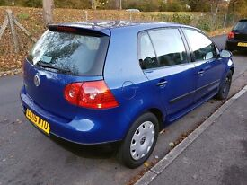 2005 VW GOLF 1400cc REDUCED FOR QUICK SALE