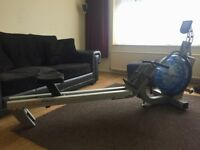Fluid rower rowing machine E316