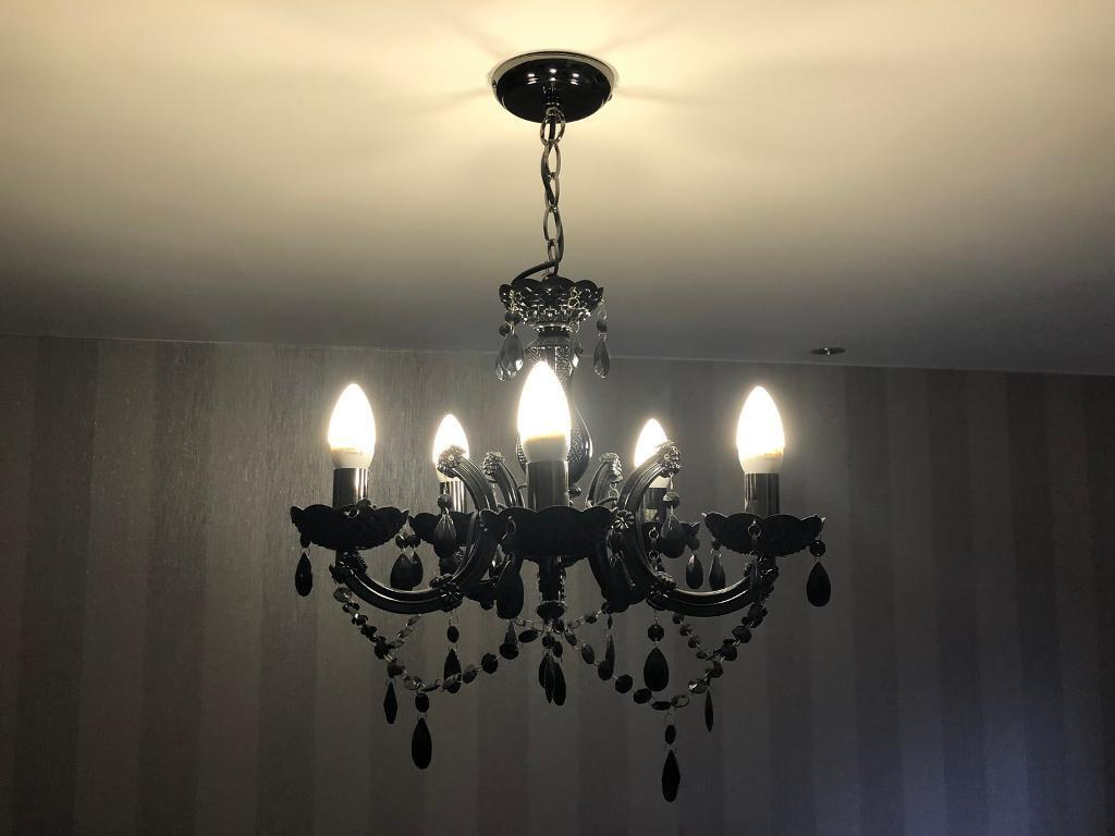 Black 5 bulb chandelier ceiling light bq in trimdon station black 5 bulb chandelier ceiling light bq mozeypictures Gallery