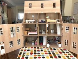 Dolls House, furniture and accesories. Good condition