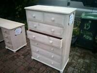 Tall Chest of Drawers Solid Pine