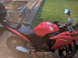 Honda CBR125 motorbike