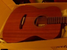 tanglewood solid mahogany steel string acoustic