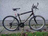 Townsend Endurance black bike 26 inch wheels, 21 gears , 18 inch frame