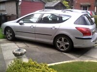 SPARES OR REPAIR PEUGEOT 407 SW IN NEED OF TLC OR FOR BREAKING UP.