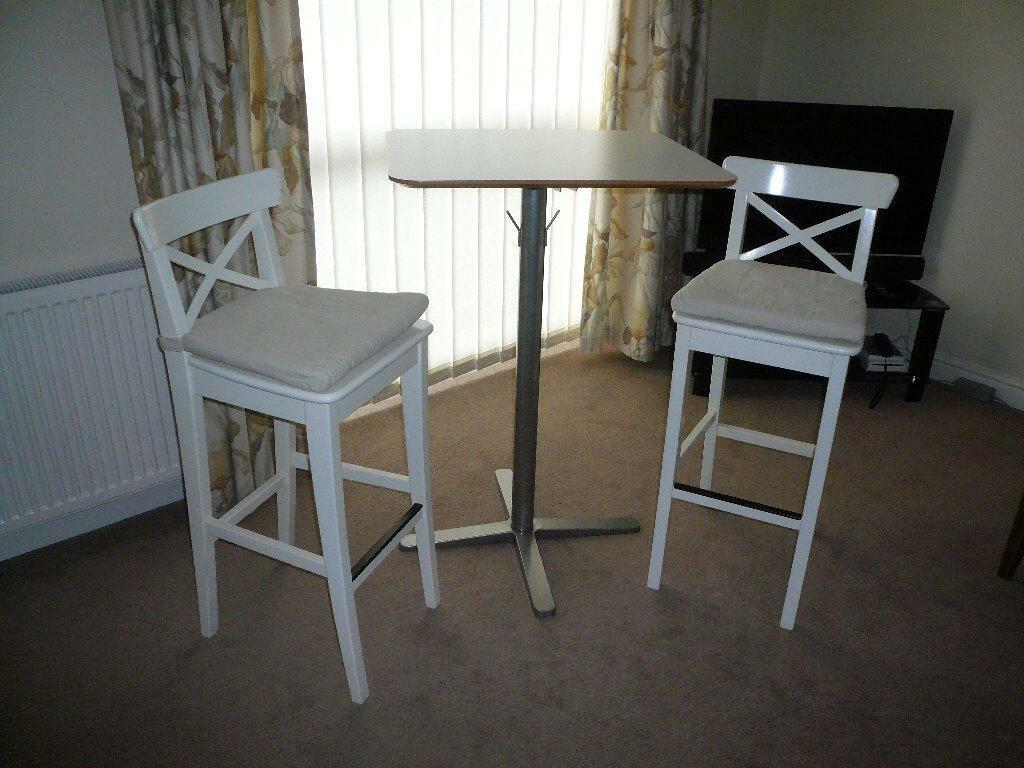 Ikea Bar Stools Breakfast Bar Table Excellent Condition In Wotton Under Edge