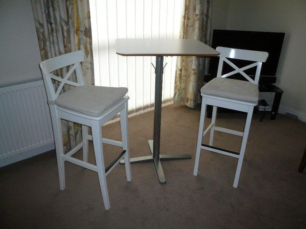 ikea bar stools breakfast bar table excellent condition in wotton under edge. Black Bedroom Furniture Sets. Home Design Ideas
