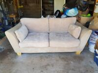 Omni Furniture Alexis large 2 seater sofa couch in mink RRP £1000