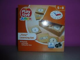 Wooden Clock Learning set