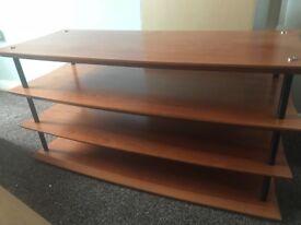 Heavy wooden t.v unit
