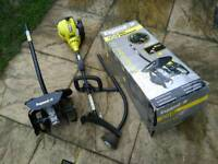 Roybi 3 piece petrol strimmers with rotavator attachment