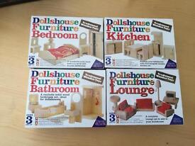 New wooden dolls house furniture