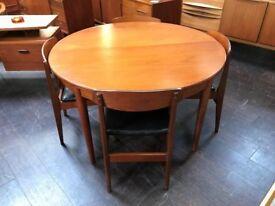 GPlan Dining Table in Teak (Extending) & 4 Chairs. Retro Vintage Mid Century