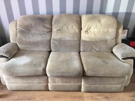 SCS Electric Reclining 3 Seater Sofa & Chair