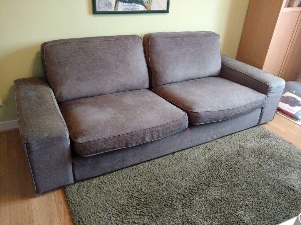 Ikea Kivik 3 Seat Sofa Borred Grey Green Cover In