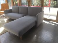 Grey Sofa (bed) L-Shaped
