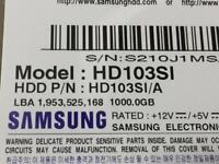 """Samsung HD103SI 1000GB 3.5"""" Sata Hard Drive"""