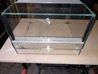 4 glass vivariums