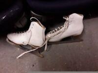 Size 8 white ice skates